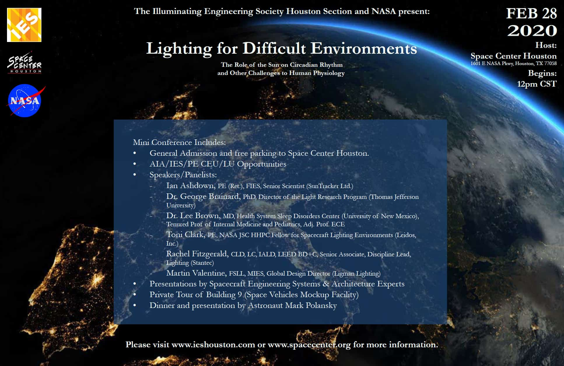 News: Lighting for Difficult Environments NASA Mini Conference