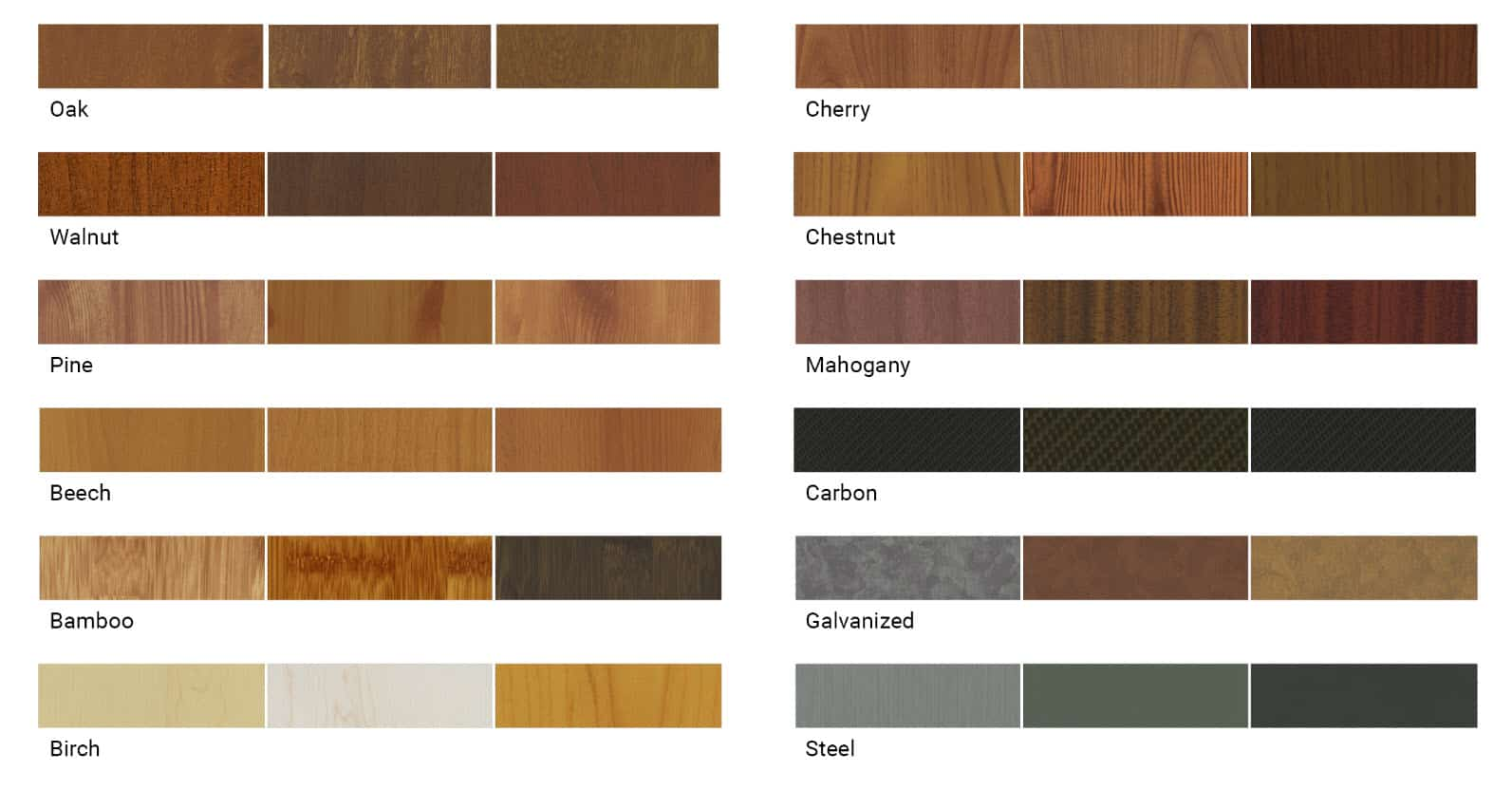 Special Textured Finish Ranges